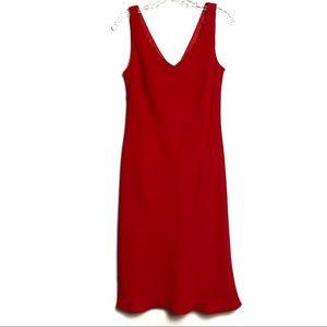 Evan Picone Red Sleeveless Dress Sz 12 B-77